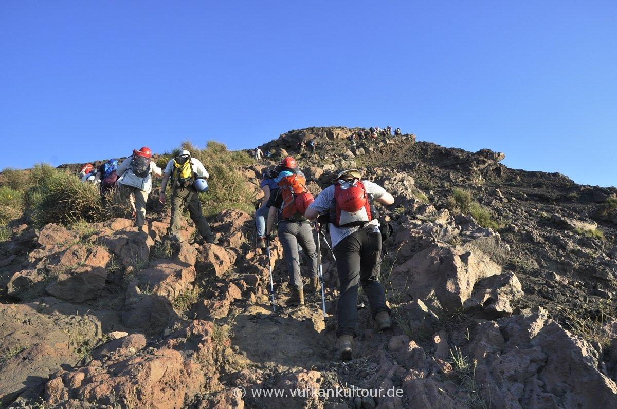 Alter Aufstiegsweg - leichte Kletterstelle