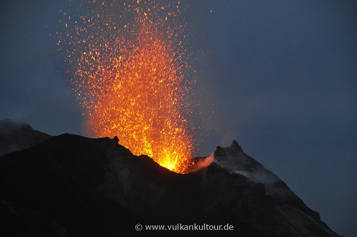 Wir erlebten eine tolle Vulkanaktivität