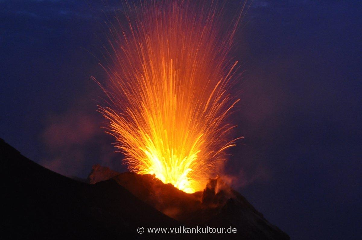 Das erste Vulkanfoto von Ferdinand (10 Jahre) - nicht schlecht oder?