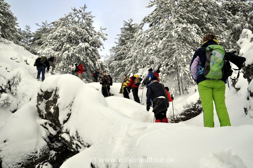 Schneeschuhwanderung am Ätna