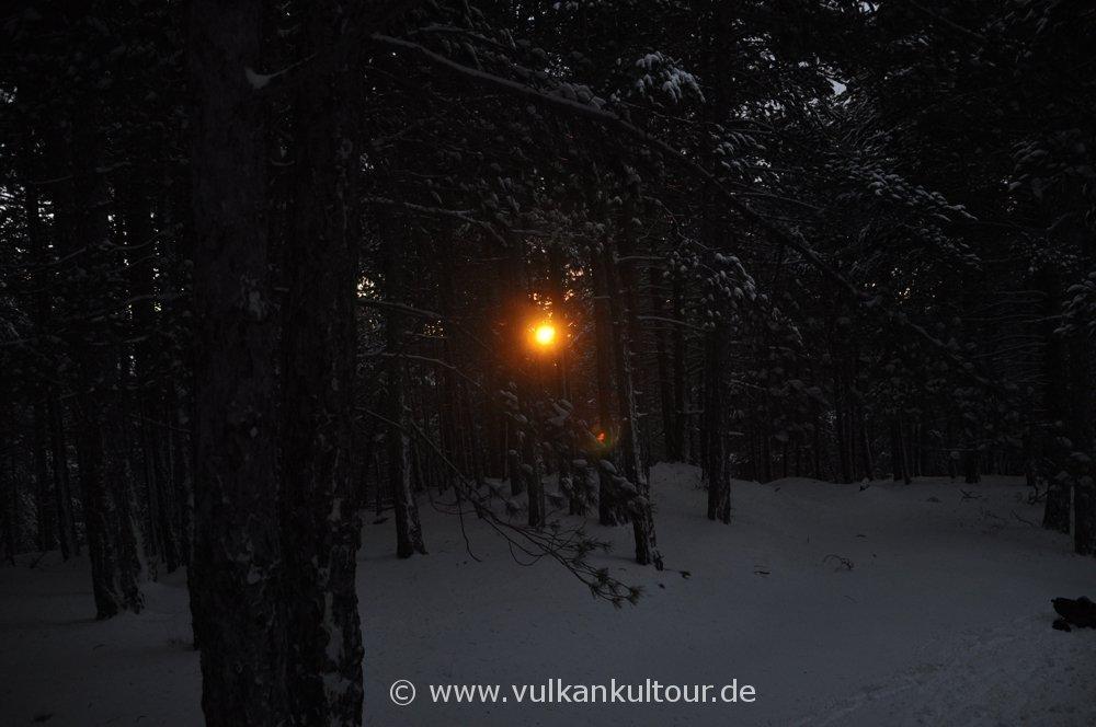 Abstieg durch den Wald