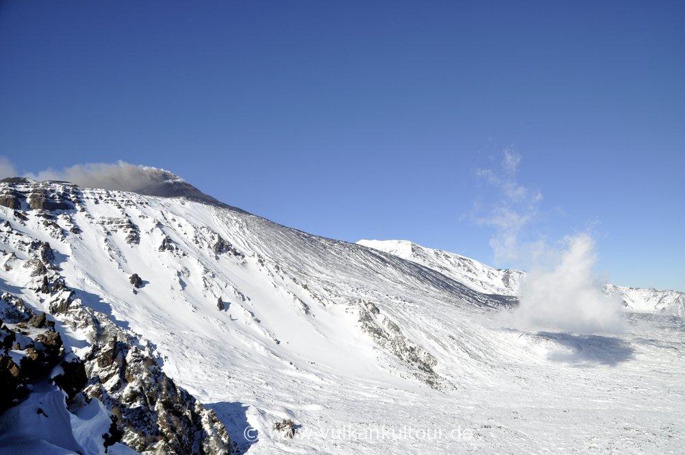 Ätnaausbruch am 2.1.2015 - Schiena dell'Asino