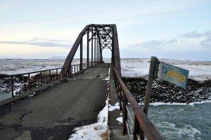 Alte Brücke über die Þjorsá