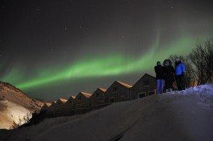 Polarlichter über Hveragerði - Hotel Frost og Funi