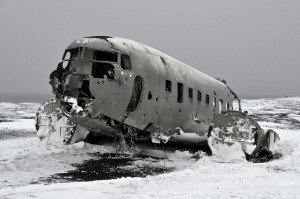 Altes Flugzeugwrack auf dem Sólheimasandur
