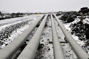Pipelines des Reykjanesvirkjún-Geothermalkraftwerkes