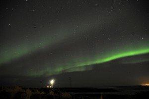 Polarlichter über Reykjavík