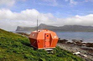 Schutzhütte für Schiffbrüchige