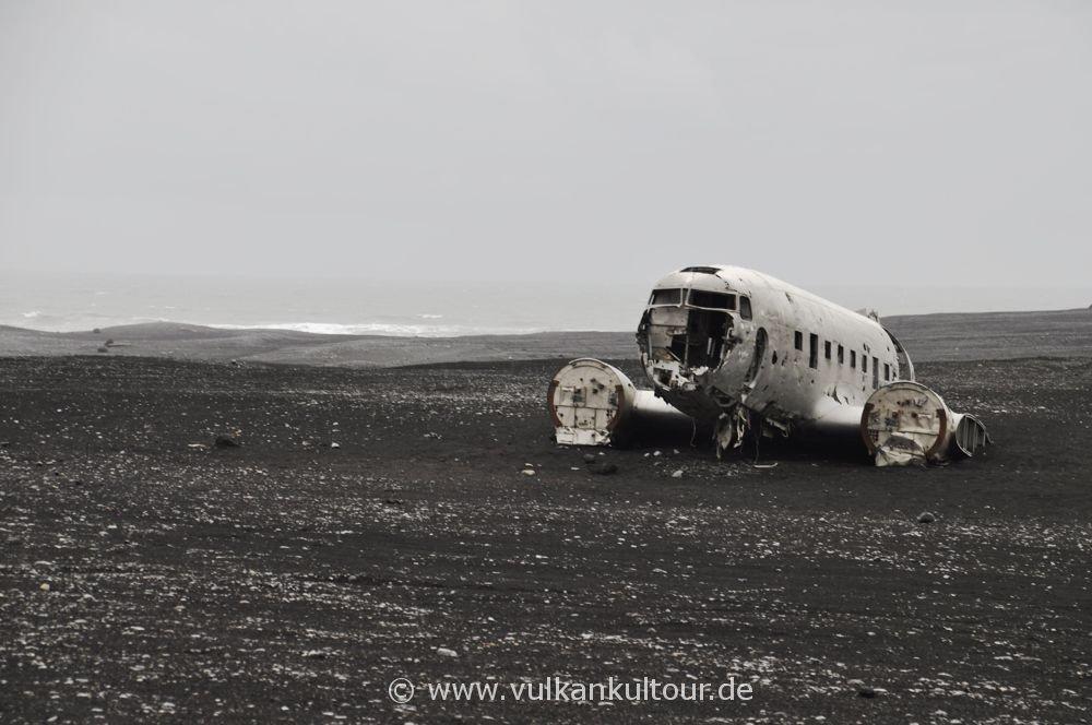 Flugzeugwrack auf dem Sólheimasandur