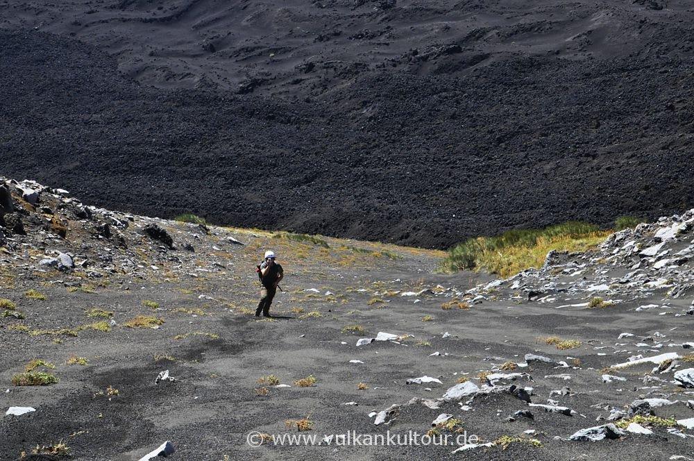 Ätna - Abstieg in das Valle del Bove