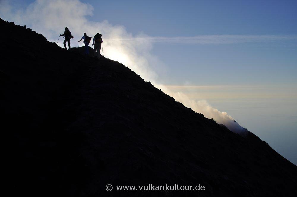 Stromboli Aufstieg kurz vor dem Gipfel