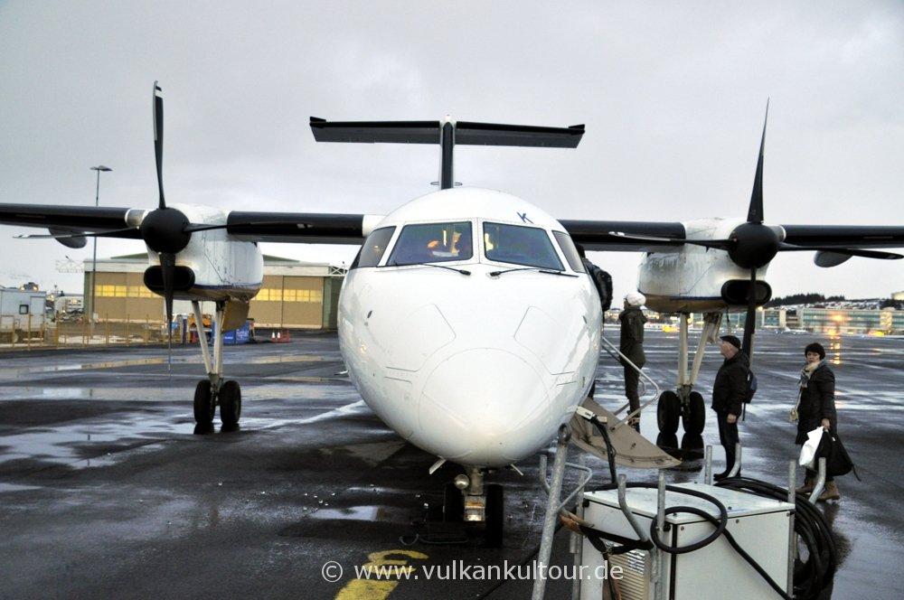 Inlandsflug Reykjavík - Akureyri mit Air Iceland
