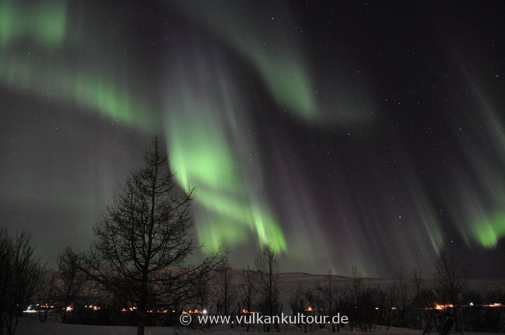 Polarlichter über Akureyri