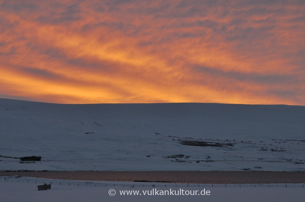 Morgenstimmung im winterlichen Nordisland