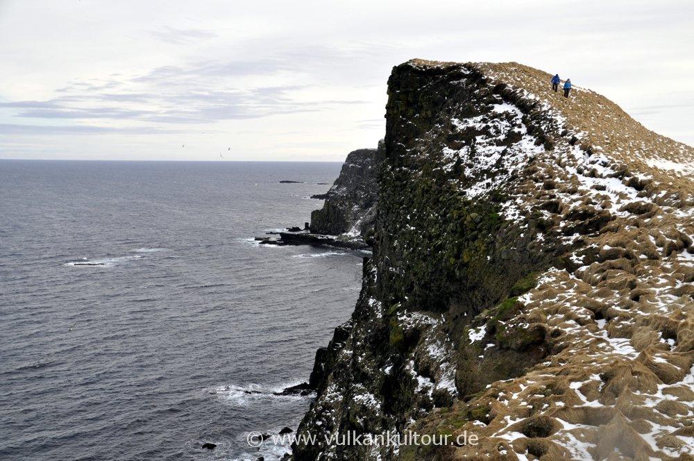 Wanderung an Grímseys Ostküste