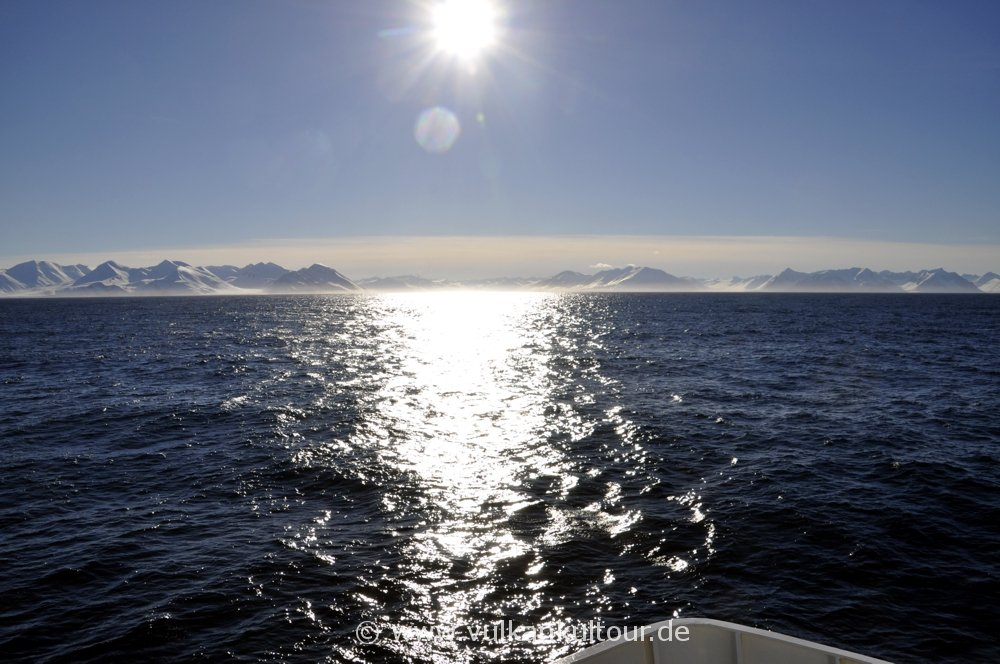 Rückfahrt von Grímsey nach Dalvík bei Traumwetter