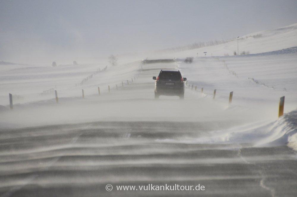 Isländische Straßenverhältnisse