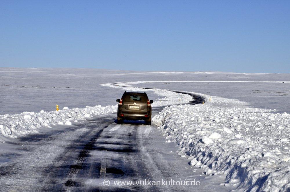 Fahrt zum Dettifoss, Straße und Wetter könnten nicht besser sein