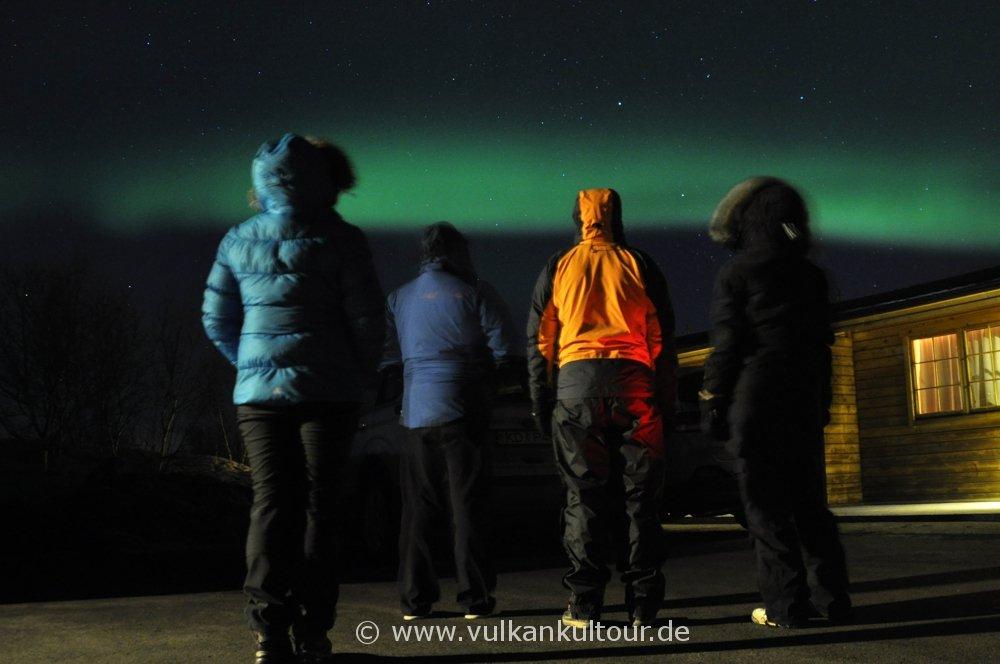 Polarlichter über unserer Pension am Myvatn