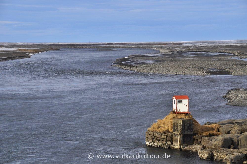 Mündung der Jökulsá á Fjöllum
