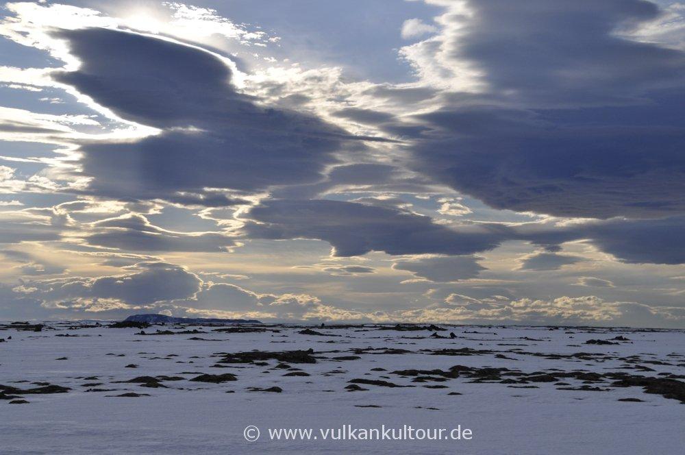 Pastellfarbene Wolkenstimmung
