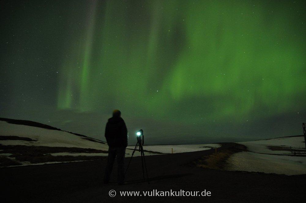 Flächige Polarlichter