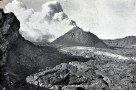 Der Krater des Vesuv vor 1944