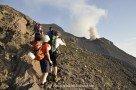 Immer im Blick: der aktive Vulkan