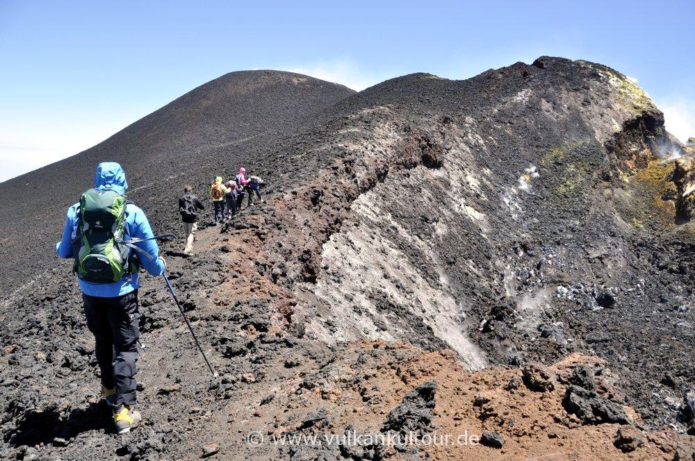 Kraterquerung nach Norden