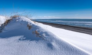 Wellen aus Schnee