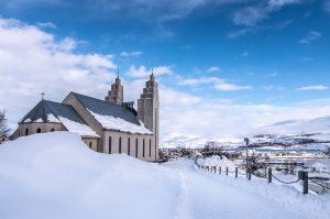 Blick über Akureyri