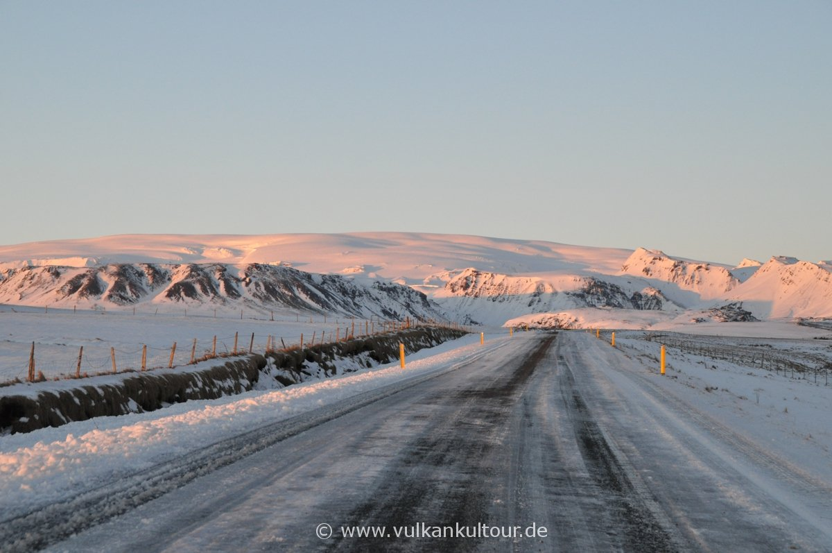 Abendsonne auf dem Mýrdalsjökull