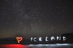 Leichtes Polarlicht über dem Hjörleifshöfði - Südküste Islands