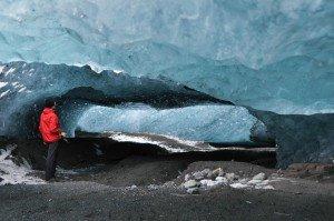 Eishöhle im Sólheimajökull
