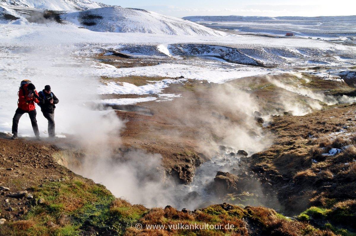 Heiße Quelle im Hveradalur (Hveragerði)