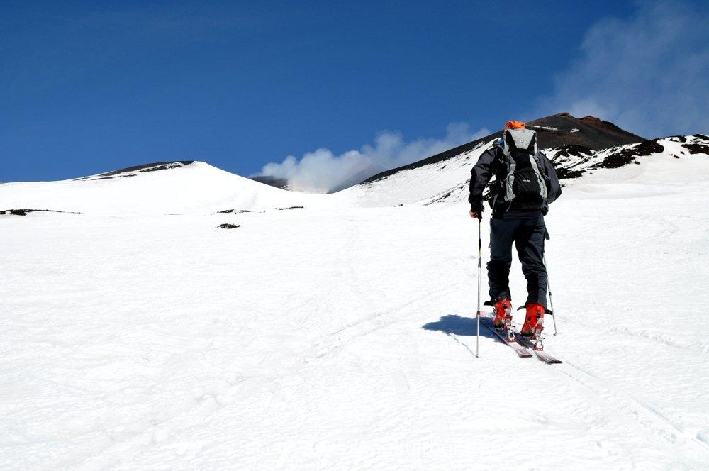 Skitourenziel Ätan Gipfelkrater