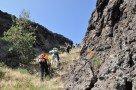 Steiler Aufstieg, weglos, im Lavacanyon