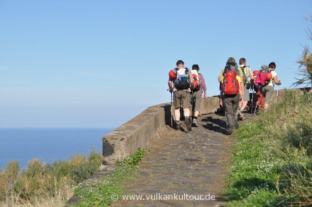 Aufstieg von Punta Labronzo auf den Stromboli