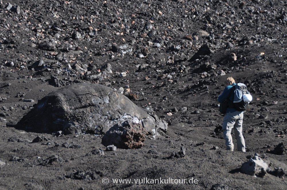 Mächte vulkanische Bombe am Ätna