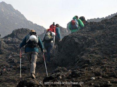 Aufstieg zu den Gipfelkratern des Ätna