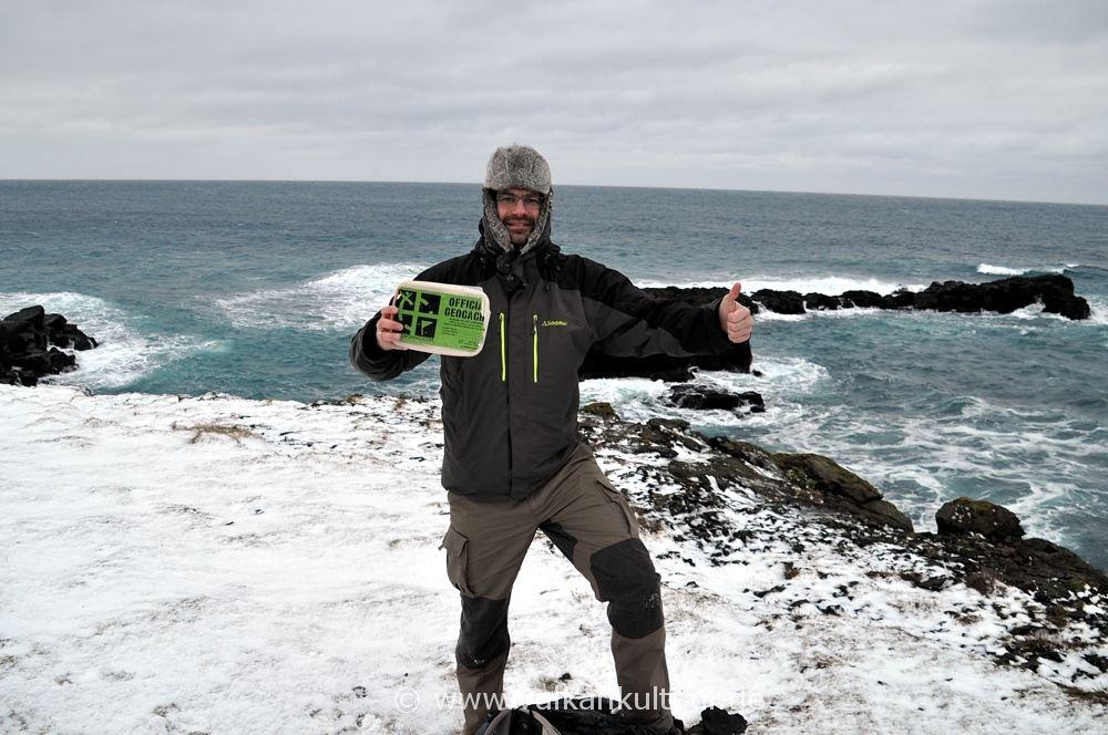 Florian hat Islands nördlichsten Geocache gefunden (auf Grímsey - http://coord.info/GCJYJC)