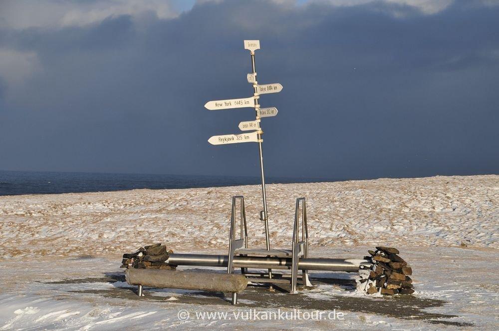 Der Polarkreis auf Grímsey