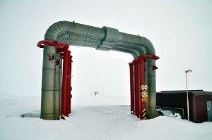 Pipelines des Kröflustöð-Geothermalkraftwerkes