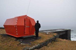 Rettungshütte für Schiffbrüchige