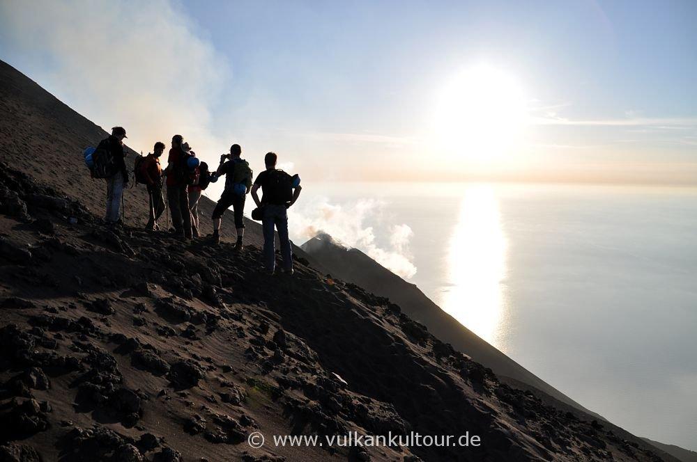 Kurz vor dem Gipfel des Stromboli