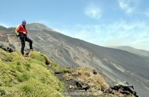 Blick zum Gipfel des Ätna