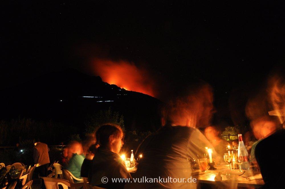 Stromboli - Abendessen im Alten Observatorium