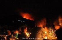 Stromboli - Abendessen mit Vulkanblick: Ristorante Osservatorio