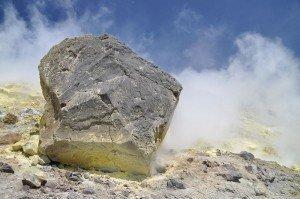 Vulcano - Schwefelfumarolen auf dem Gran Cratere