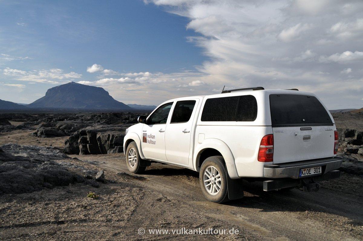 Mit dem Toyota Landcruiser durchs nördliche Hochland zur Herðubreið, der Königin der isländischen Berge